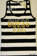 GUESS Jeans studded Glitter Tank T-shirt Tee T shirt  Top Blouse  Black  NWT XL