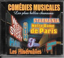 CD COMPIL 19 TITRES--COMEDIES MUSICALES--STARMANIA/NOTRE DAME.../FAME/MISERABLES