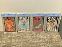 MARVELS #1 2 3 4 KEY 9.8 Complete Set Lot WHITE 94 Marvel Comics nm/MT CGC<CBCS