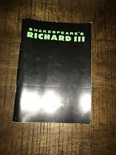 Shakespeare's Richard III State. Theatre Co. Programm with ticket.