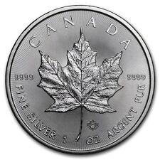 2016 Canadian $ 5 Dollars Maple Leaf 1 oz .9999 Silver Coin