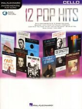 12 Pop Hits Play-Along Cello Violoncello Noten mit Download Code