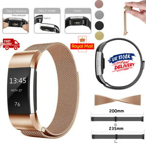 For Fitbit Charge 3 Milanese Strap Replacement Band Stainless Steel Magnet UK