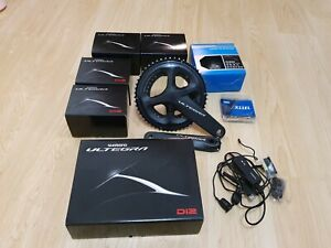 Shimano Ultegra DI2 R8050 11 Speed Complete Groupset 52/36 11/30 KMC Mostly New