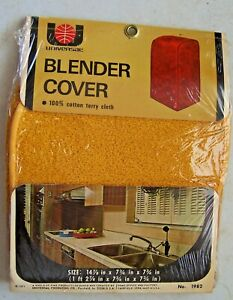 Vintage 1971 Universal Terry Cloth Harvest Gold Blender Cover in Package