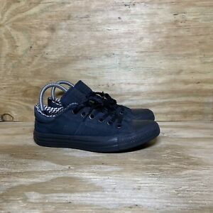 Converse All Star Shoes Women's Size 7 Black Skate Padded Tongue Low Top Sneaker