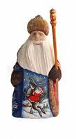 Bois sculpté Fait Main -  Le père Noel - Décoration de Noël - Artisanat Russe