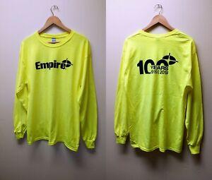 Empire Gildan Safety Green Long Sleeve Heavy T-Shirt  Work Shirts - M, L & XL