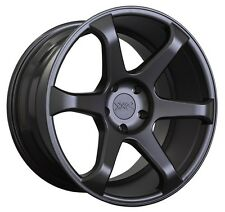 XXR 556 18x8.75 Rims 5x114.3 ET19 Black Wheels Fits 350z G35 240sx Rx8 Rx7