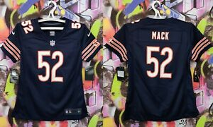 Chicago Bears Mack #52 GSH NFL Football Jersey Shirt Top Nike Womens Size S