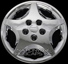 "14"" Set of 4 Chrome Wheel Covers Snap On Full Hub Caps fit R14 Tire & Steel Rim"