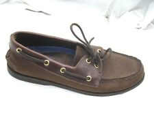 Sperry Top-Sider Original brown two-eye leather boat shoes Mens 10M 0195412