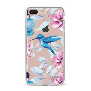 Apple iPhone Case Soft Clear Silicone Slim Fit Shockproof Cover Smmr Hummingbird