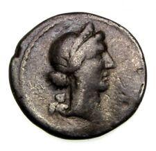 More details for julius caesar silver denarius 46-45 b.c.e. military mint spain vf