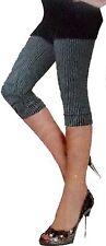 3/4 Caprihose Damen Mode Leggings Leggins unisex.kariert grau