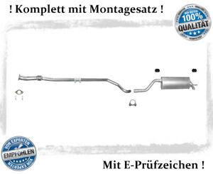 Mittelrohr Endschalldämpfer Auspuff ab Kat Fiat GRANDE Punto 1.2i Anbausatz
