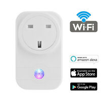 WIFI Smart Socket Phone Remote Control Outlet Compatible with Alexa Echo UK Plug
