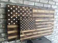Rustic American Flag, Wooden Handcrafted American Flag