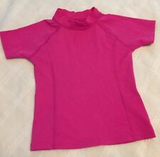 Lands End Rashguard Pink Slim Girls Size 4 5