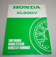 Workshop Manual Supplement/Workshop Manual Supplement Honda XL 600 V By 1990