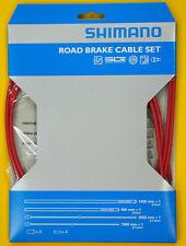 Shimano PTFE SIL-TEC Road Bike Brake Cable Housing Set Red