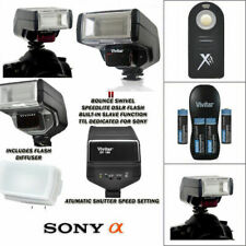 FULL AUTO DEDICATED TTL FLASH + REMOTE FOR SONY ALPHA A850 A500 A550 A330 A350