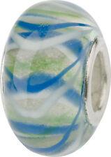 Charlot BORGEN cristal bola con silberkern GPS 19 Azul Murano Bead