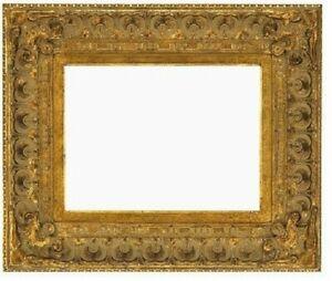 "11 X 14 BAROQUE MEDIUM ANTIQUED GOLD 5"" WIDE STANDARD PICTURE FRAME CARVED"