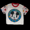 Vintage 90s Disney Mickey Minnie Mouse White Crop Top Single Stitch T-shirt L