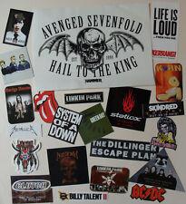 Heavy Metal STICKER LOT Avenged Sevenfold, Korn System of a Down Marilyn Manson