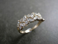 3.00 Carat Estate Marquise Cluster Engagement Ring 10K Yellow Gold