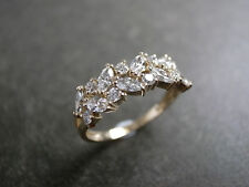 3.00 Carat Estate Marquise Diamond Cluster Engagement Ring 10K Real Yellow Gold