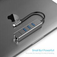 LENTION USB C Ethernet Hub auf 3-Port-USB 3.0 RJ45 Gigabit Adapter für MacBook