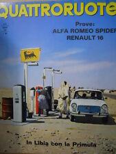 Quattroruote n°126 1966  - Test su strada Alfa Romeo Spider & Renault 16  [Q79A]