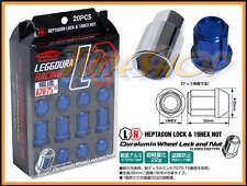 KICS LEGGDURA 35MM WHEELS LOCKS LUG NUTS 12X1.25 1.25 ACORN RIM FORGED BLUE S