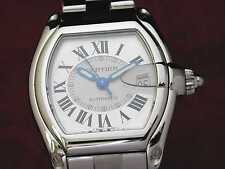 CARTIER ROADSTER AUTOMATIC großes Modell STAHL, TOP ! CARTIER-REVISION 10/2013 !
