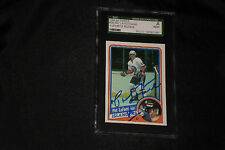 PAT LaFONTAINE 1984-85 TOPPS ROOKIE SIGNED AUTOGRAPHED CARD #96 ISLANDERS SGC