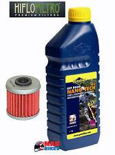 Honda CRF 450, CRF250 y 150 Putoline Nano Tech + 10W40 y Hiflo Filtro De Aceite HF116