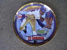 Nolan Ryan Baseball Plate  27 Seasons The Hamilton Collection   NIB  COA