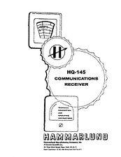 Hammarlund HQ-145 HQ-145C & HQ-145E Operator & Service Manual