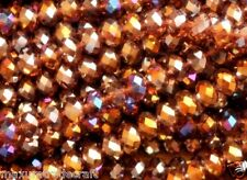 A string of  AB amethyst facted rondelle crystal beads 10x8mm