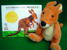 Does A Kangaroo Have A Mother Too soft plush Kangaroo and Book Set Eric Carle