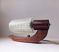 Vtg 50s Arch Moon Wall Lamp Sconce Teak Brass danish modern Luxus Lyfa PH era