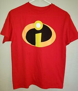 boys NEW NWOT red INCREDIBLES 2 TEE SHIRT TOP size large cotton short sleeve