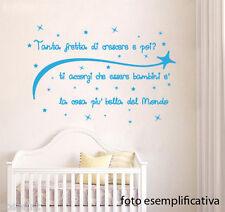 WALL STICKERS DECORAZIONI ADESIVI MURALI Peter Pan Tanta fretta di crescere....