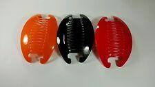 3set NEW VINTAGE LARGE COMB BANANA CLIP HAIR RISER CLAW LOT black Red Orang.