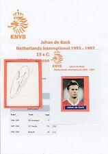 JOHAN de KOCK NETHERLANDS INTERNATIONAL 1993-1997 ORIGINAL HAND SIGNED CUTTING