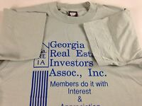 Georgia Real Estate Investors T-Shirt VTG 90s Adult SZ M/L Members Only USA Made