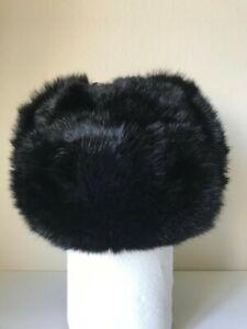 Russian Ushanka hat Natural rabbit fur Size 58cm, 71/4 US = L