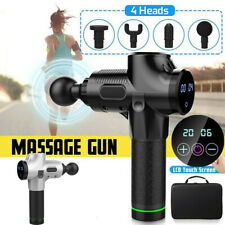 Fascial Gun Massager Percussive Massager 4 Heads 30 Speeds Percussion Massage